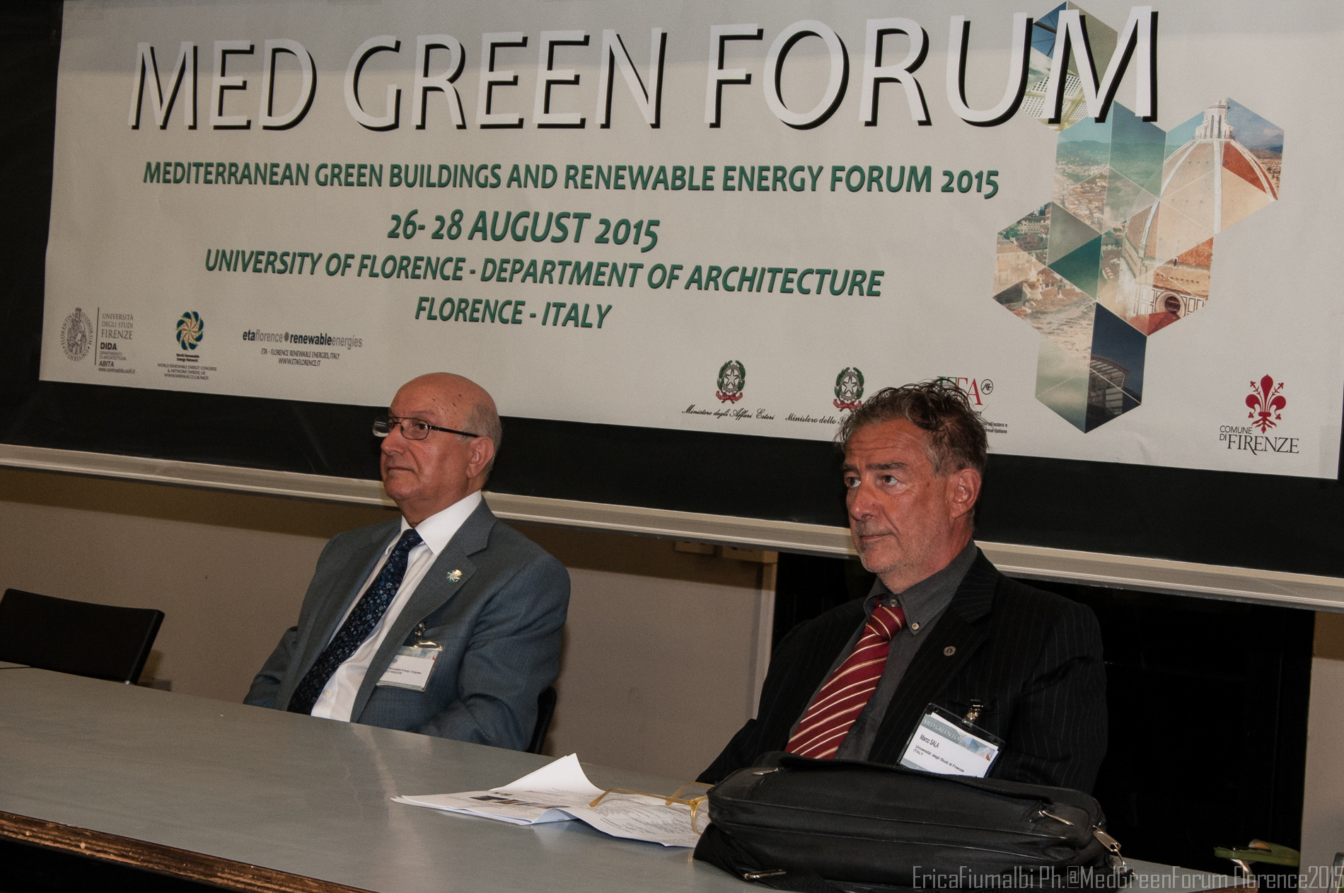 Prof. Ali Sayigh Chairman of Med Green Forum UK Prof.Marco Sala, Co-chair of Med Green Forum - Italy
