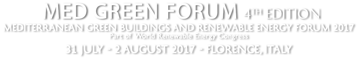 Med Green Forum – 4 | Mediterranean Green Buildings and Renewable Energy Forum 2017