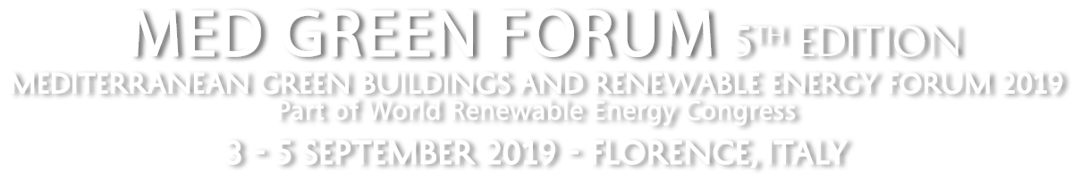Med Green Forum – 5 | Mediterranean Green Buildings and Renewable Energy Forum 2019